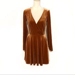 ⚡️Kimchi Blue Velvet Fit And Flare Dress